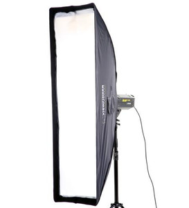 Strip lite 20x140cm Deep Recessed Soft box with 3 Diffusers