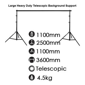 Telescopic Background Support Stand 2.5m