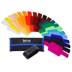 Speedlite Colourgel kit with 20 gels, carry case and mounting