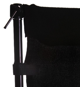 Portable Background Kit with Black 3x6m Wrinkle Free Backdrop