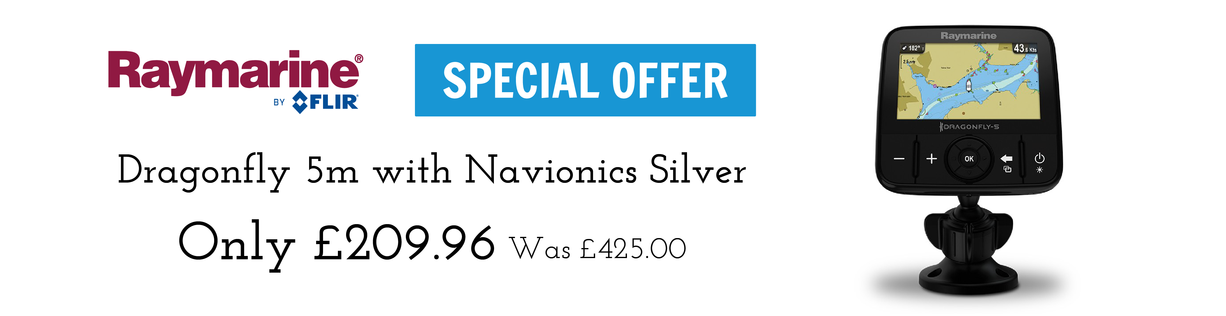 raymarine dragonfly 5m with navionics silver special offer banner