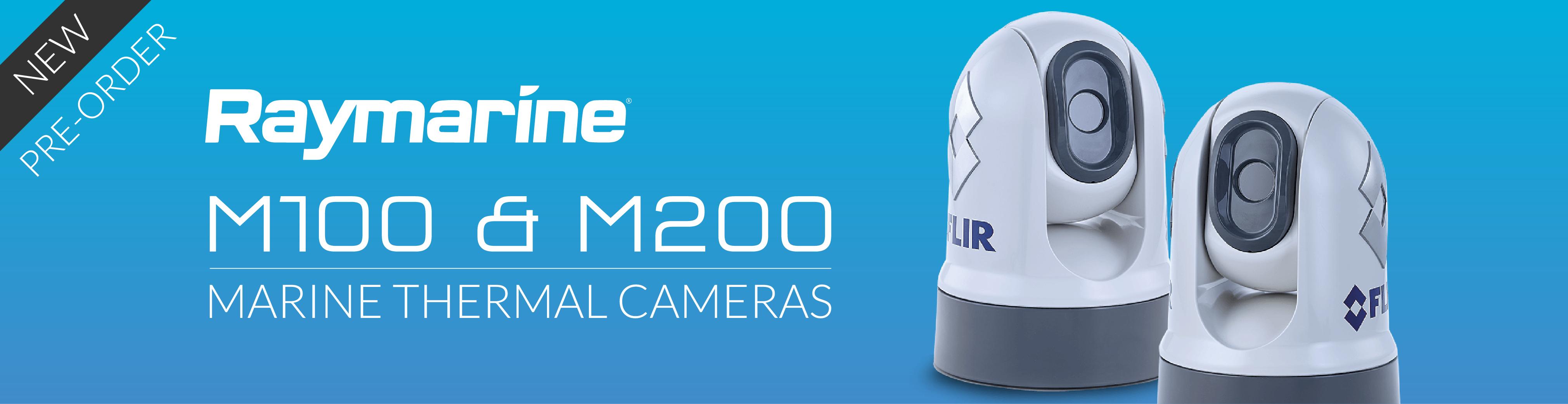 raymarine m100 m200 marine thermal cameras banner
