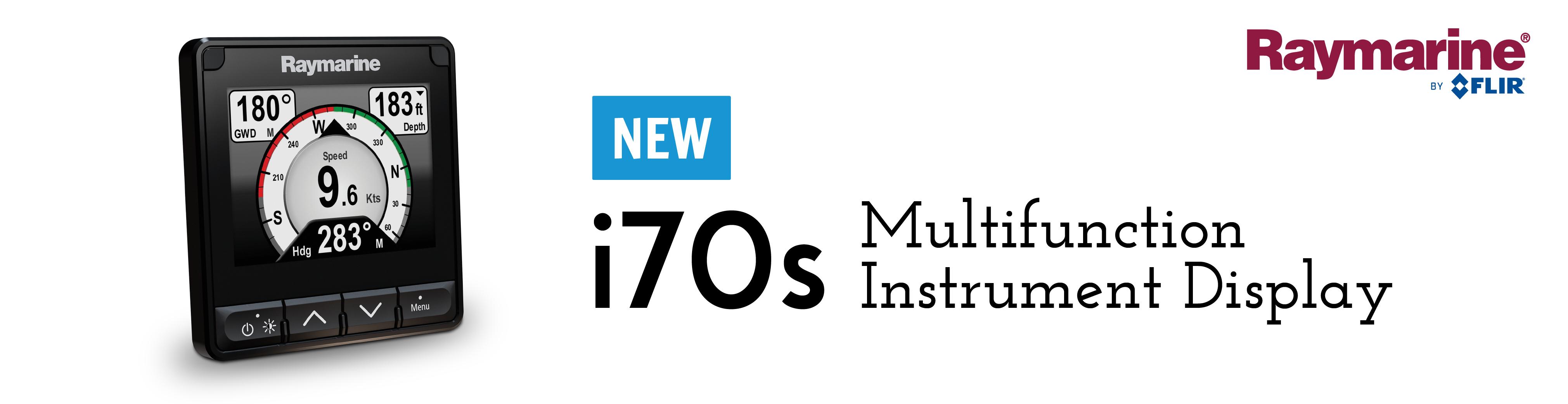 raymarine new i70s multifunction instrument display banner