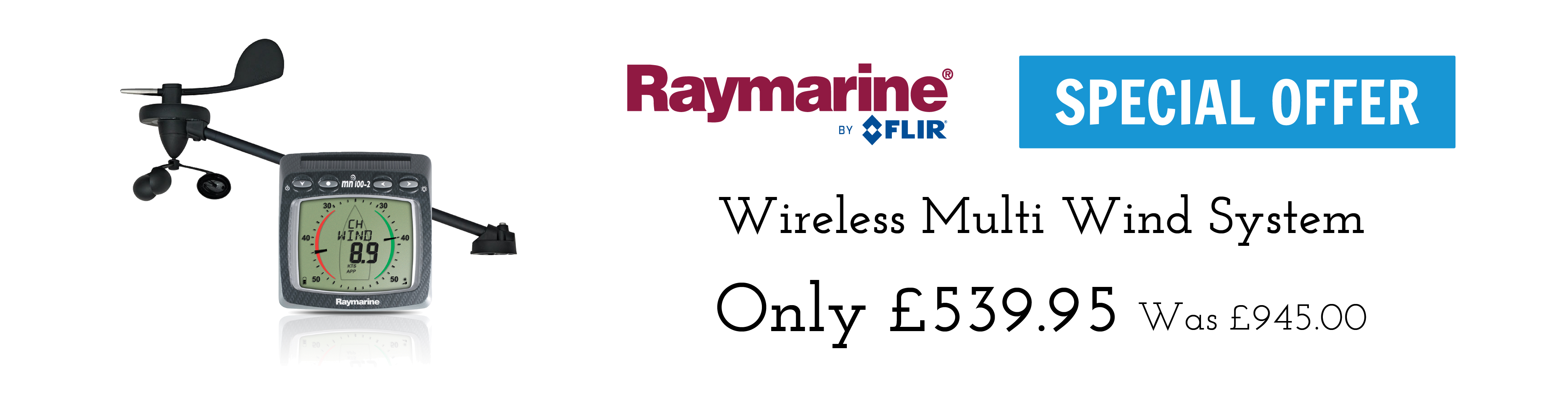 raymarine wireless multi wind instrument system special offer banner