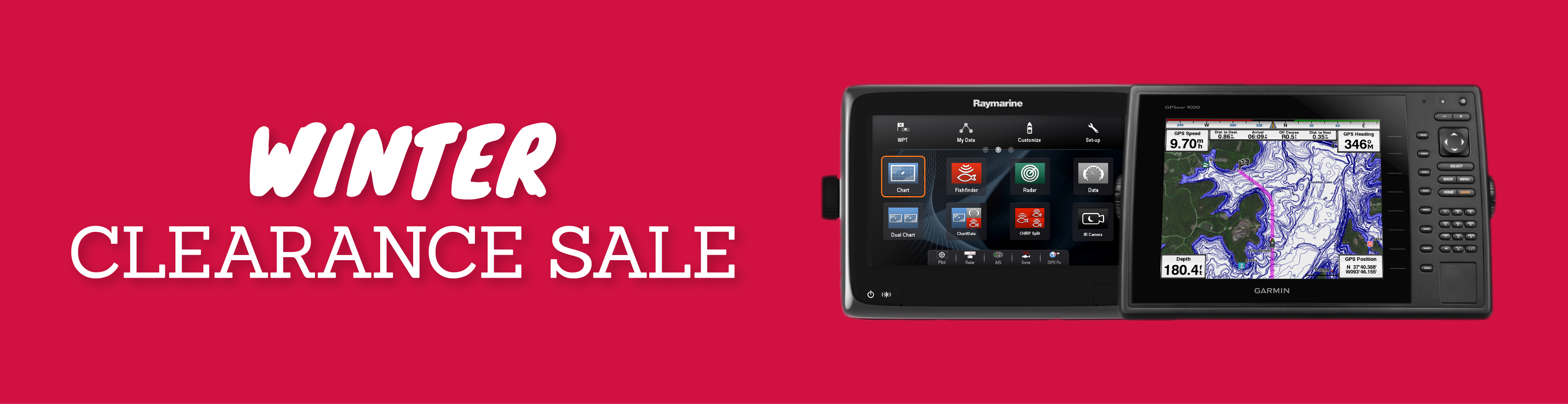 rowlands marine electronics winter clearance sale banner