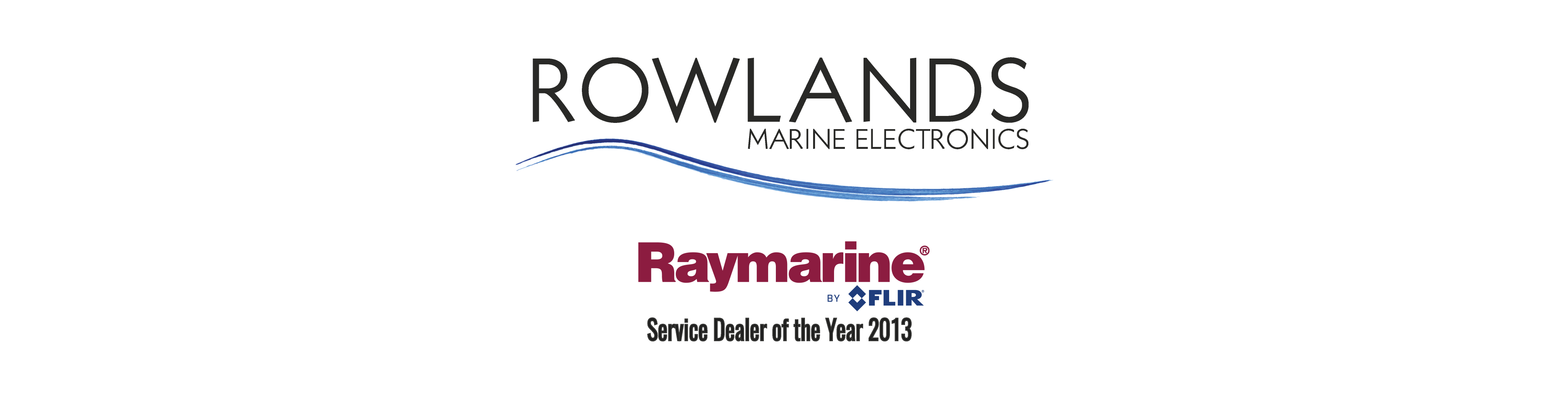 rowlands marine electronics raymarine service dealer of the year banner