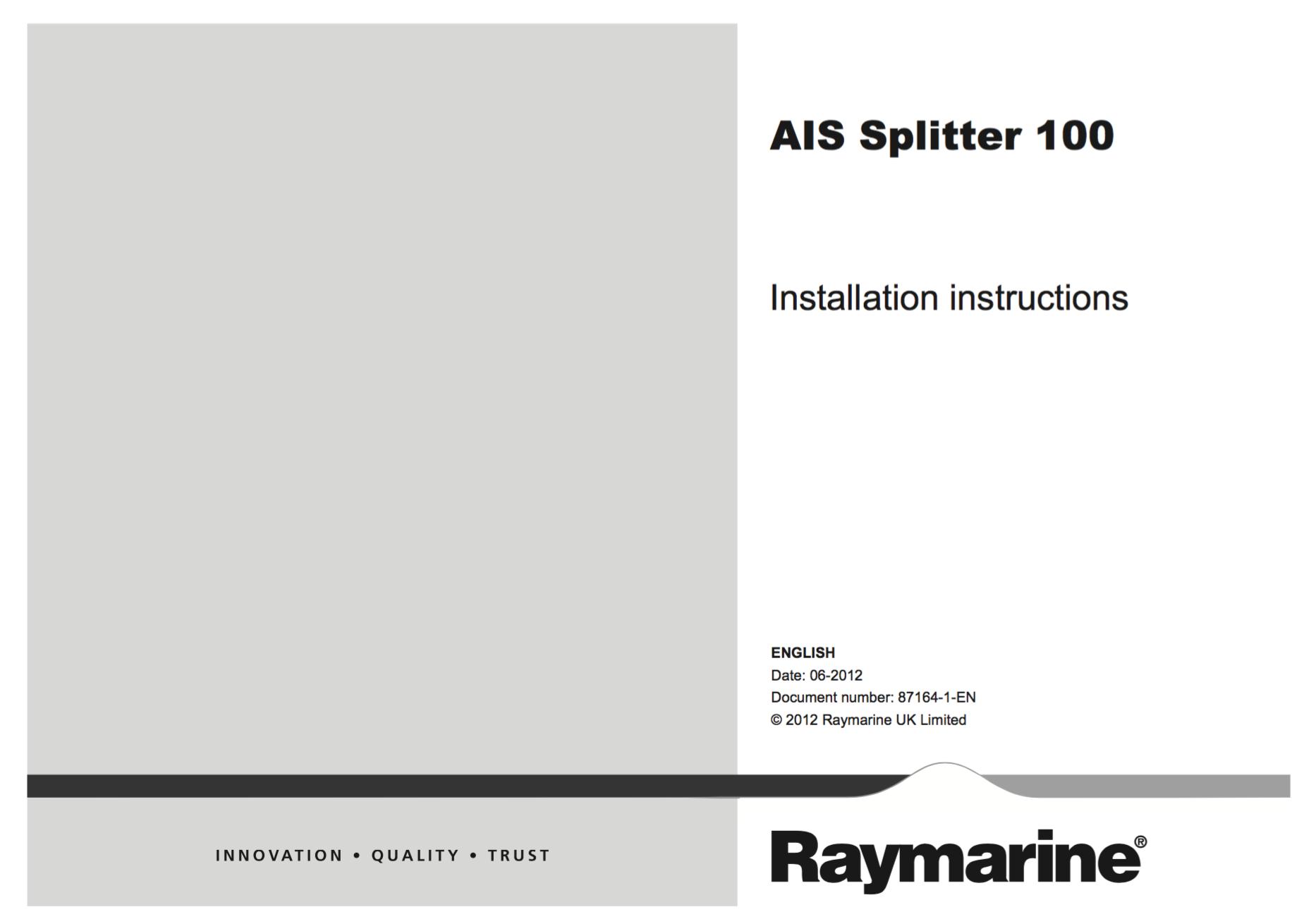 ais splitter 100 installation instructions