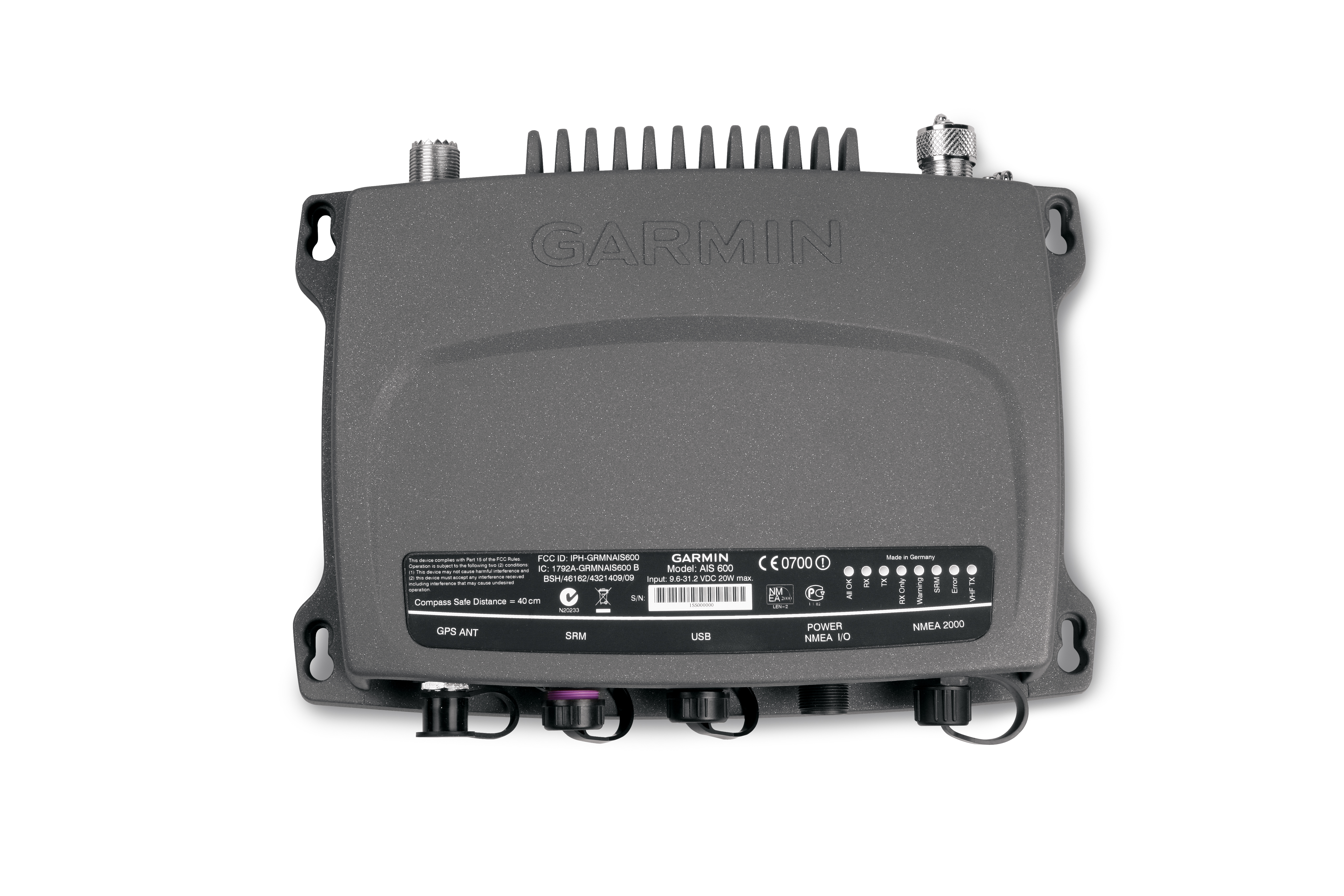 ais600 blackbox transceiver front view