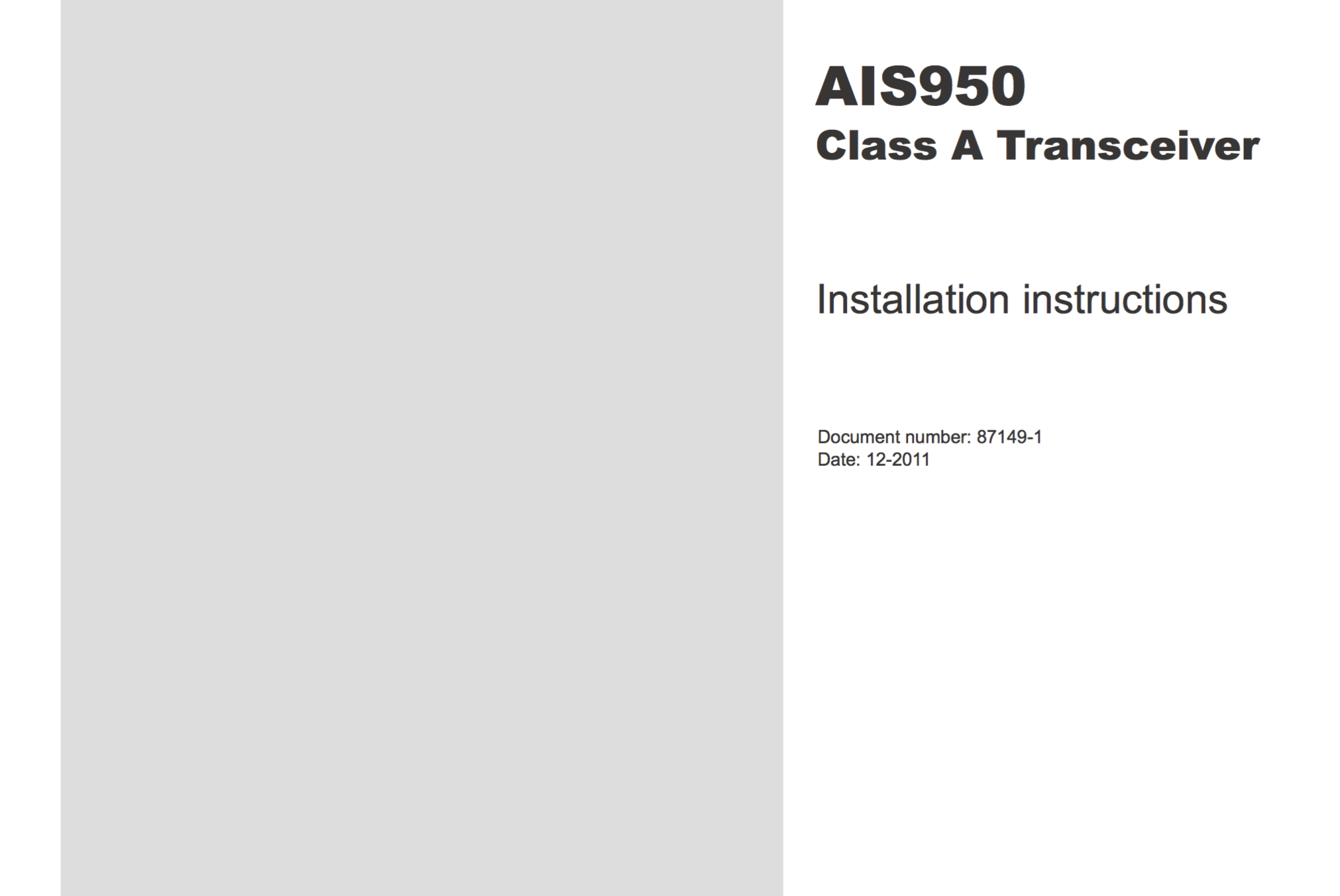ais950 installation instructions