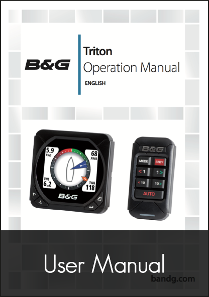 b and g triton multifunction instrument display user manual