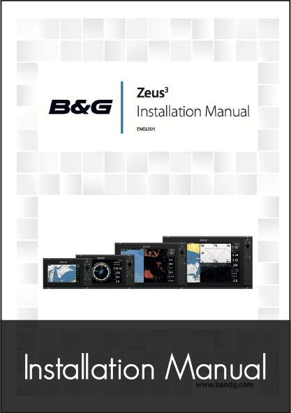 b and g zeus 3 multifunction display installation instructions
