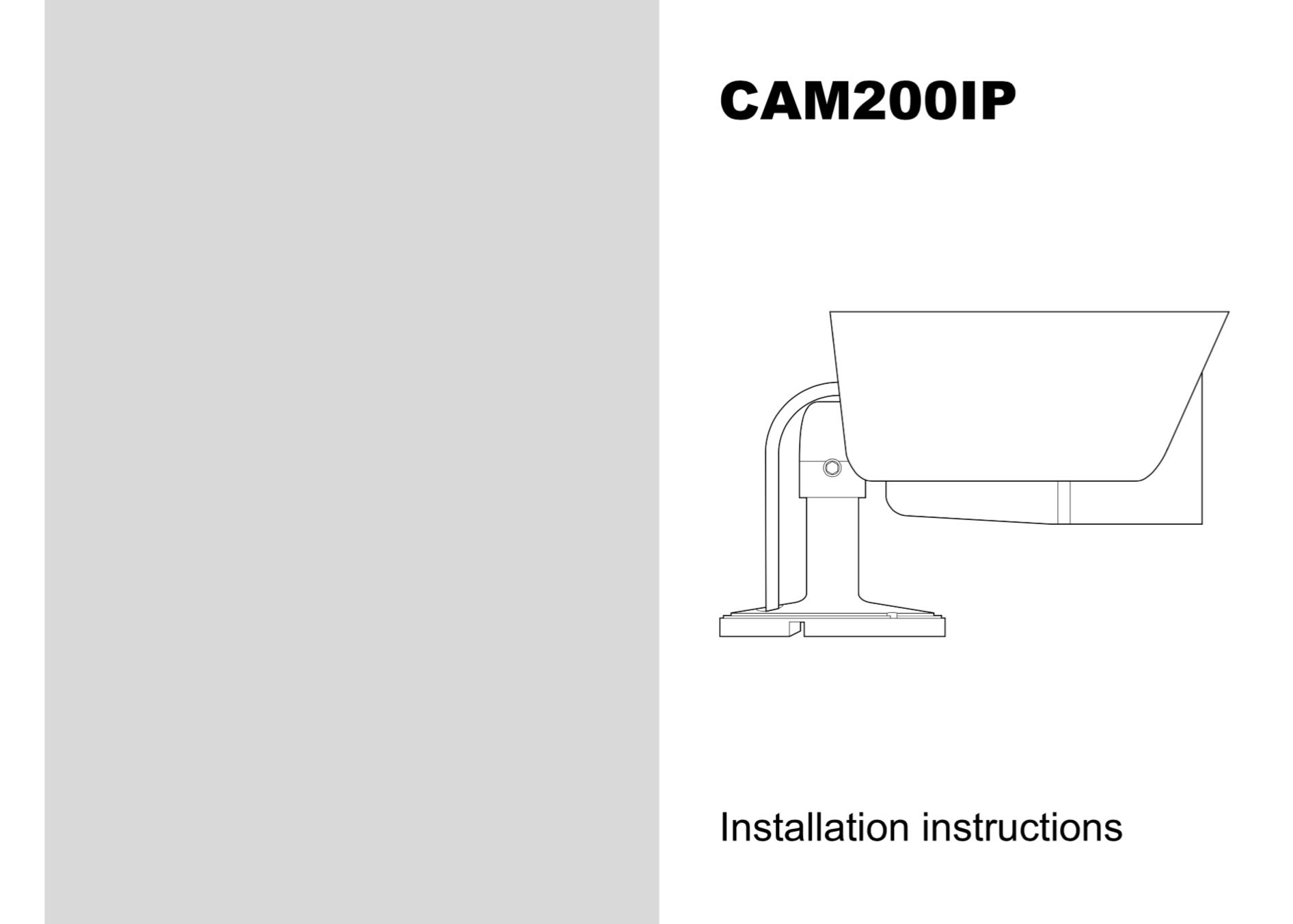 cam200ip camera installation instructions