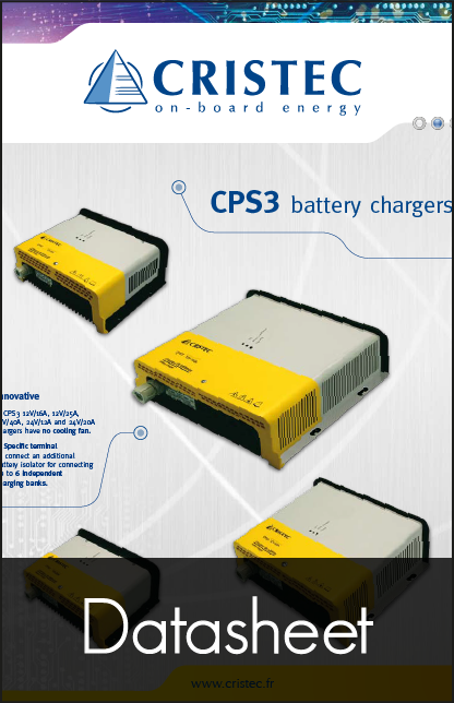 cristec cps3 battery charger datasheet