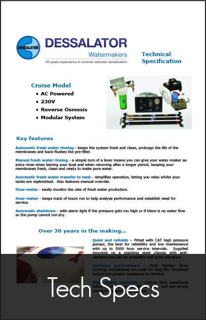dessalator cruise technical specification 2
