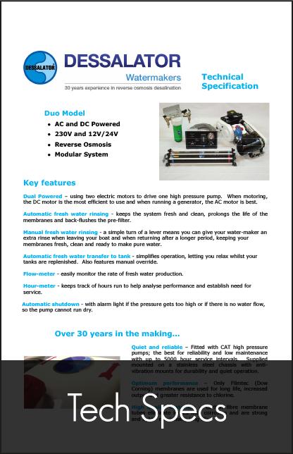 dessalator duo technical specification 2