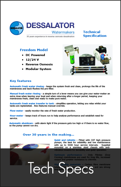 dessalator freedom technical specification