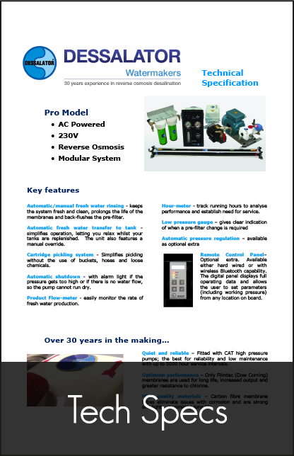 dessalator pro technical specification 2