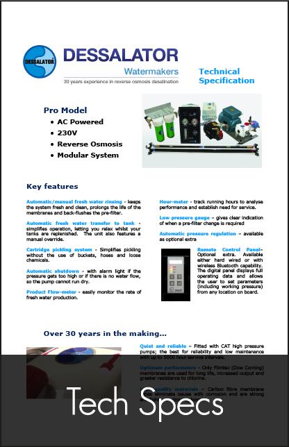 dessalator pro technical specification