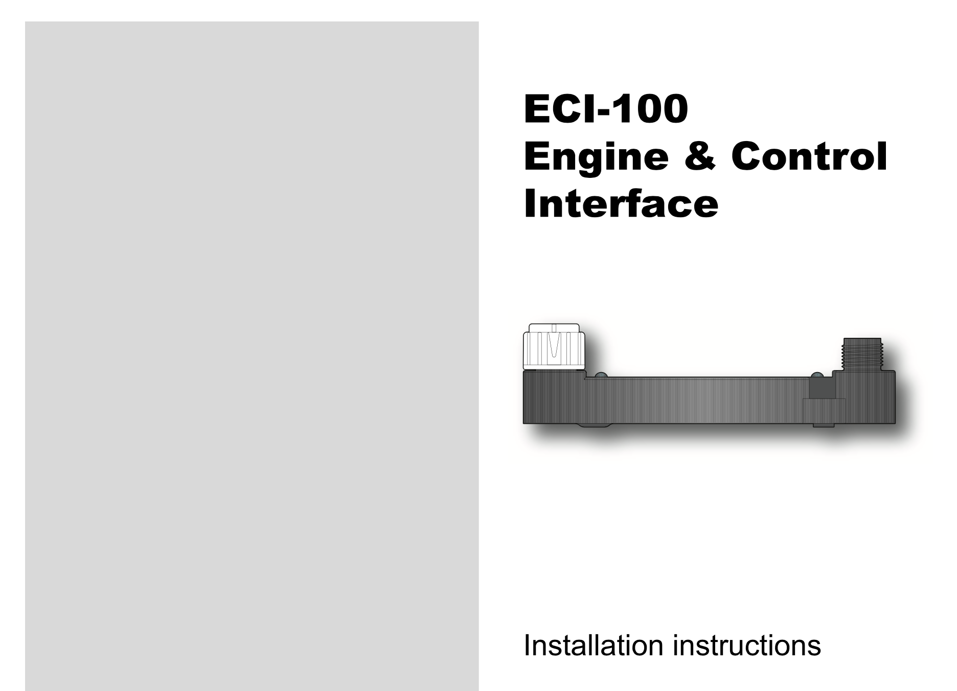 eci-100 engine control interface installation instructions