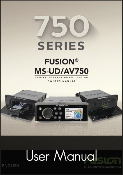 fusion av750 audio stereo unit user manual