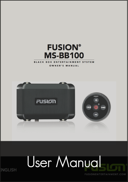 fusion bb100 black box user manual