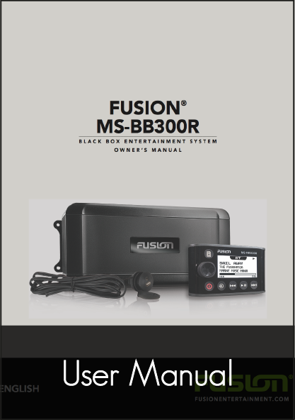 fusion bb300r black box stereo unit user manual