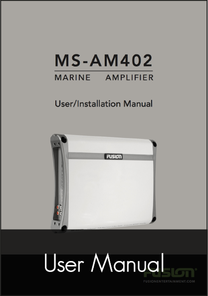 fusion ms am402 amplifier user manual