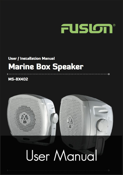 fusion ms bx402 speakers user manual