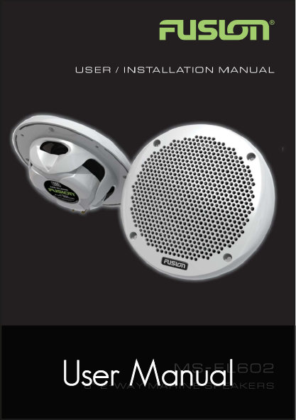 fusion ms el602 speakers user manual