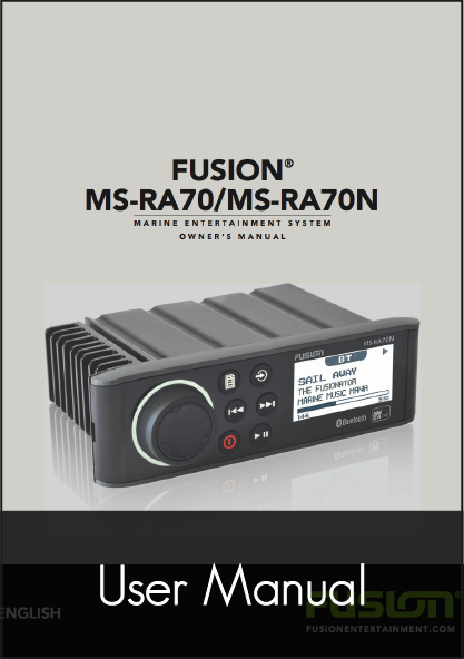 fusion ms ra70 stereo unit user manual