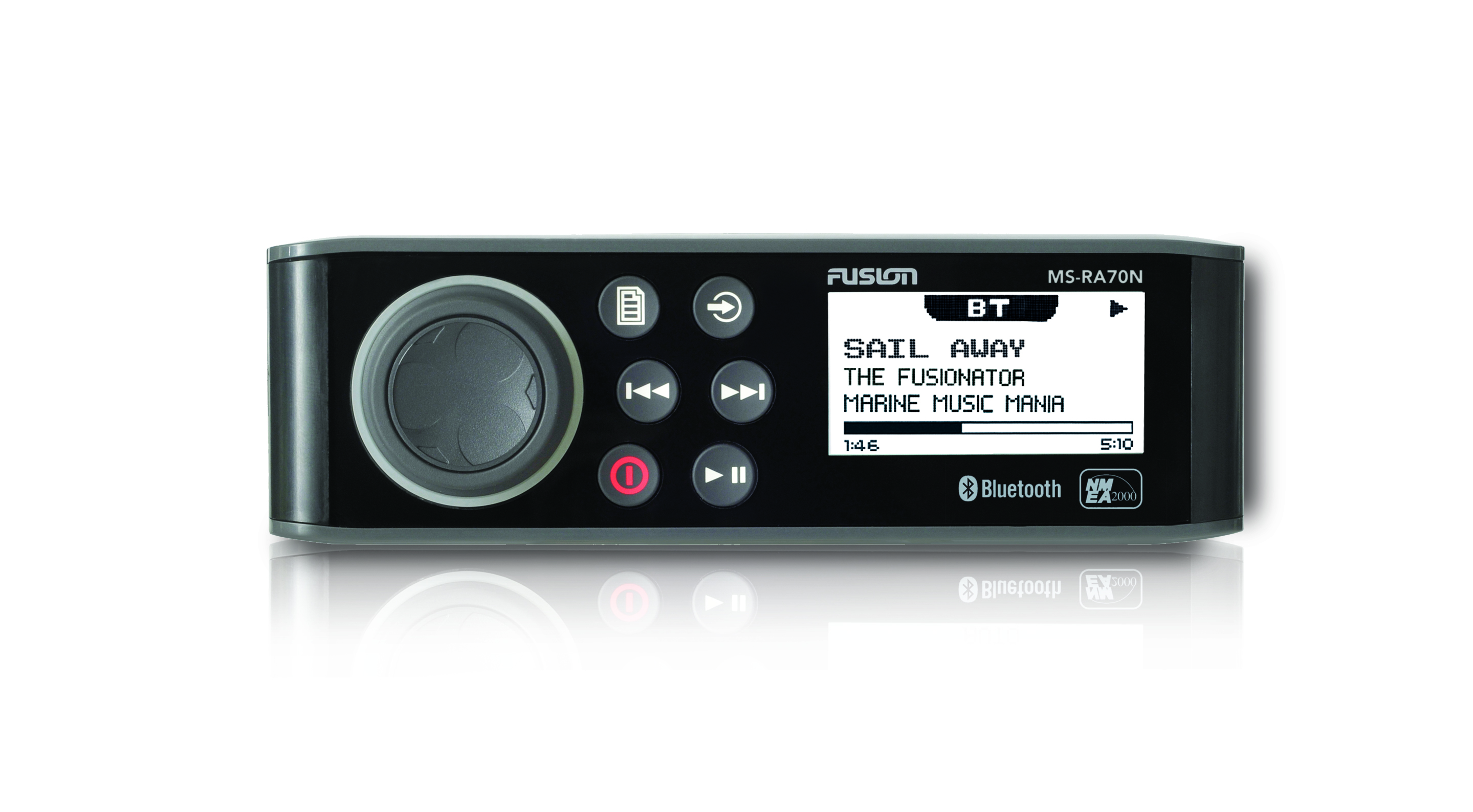 fusion ms ra70n stereo unit front view