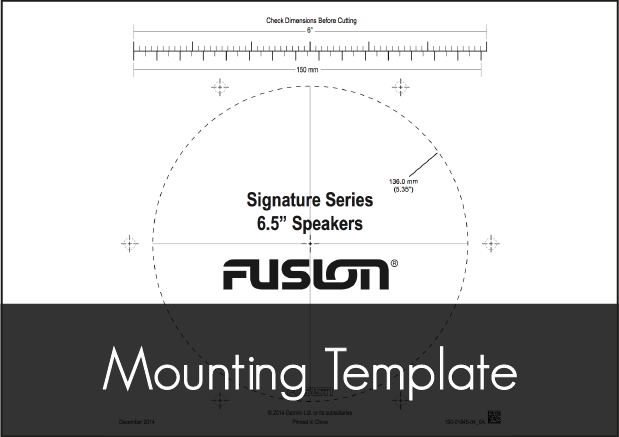 fusion sg f65w speakers mounting template
