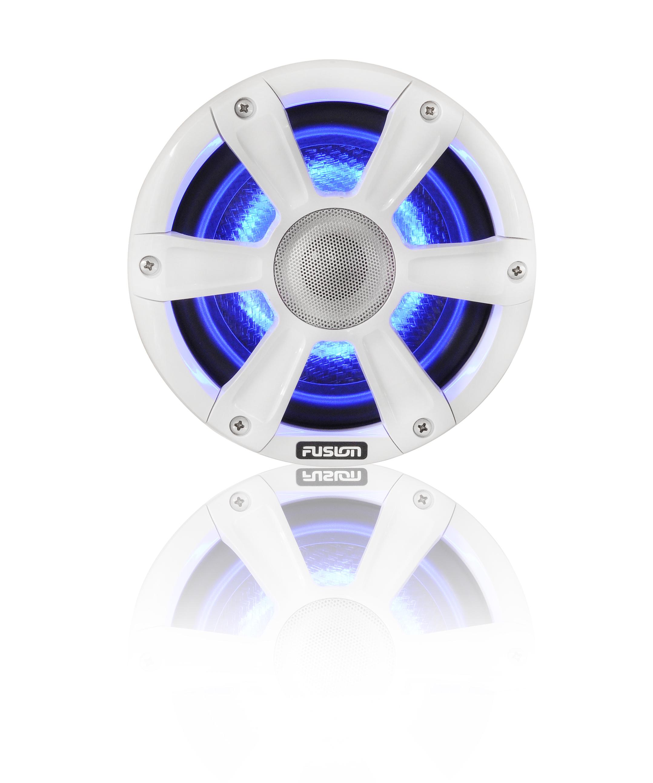 fusion sg fl65spw speaker blue led front