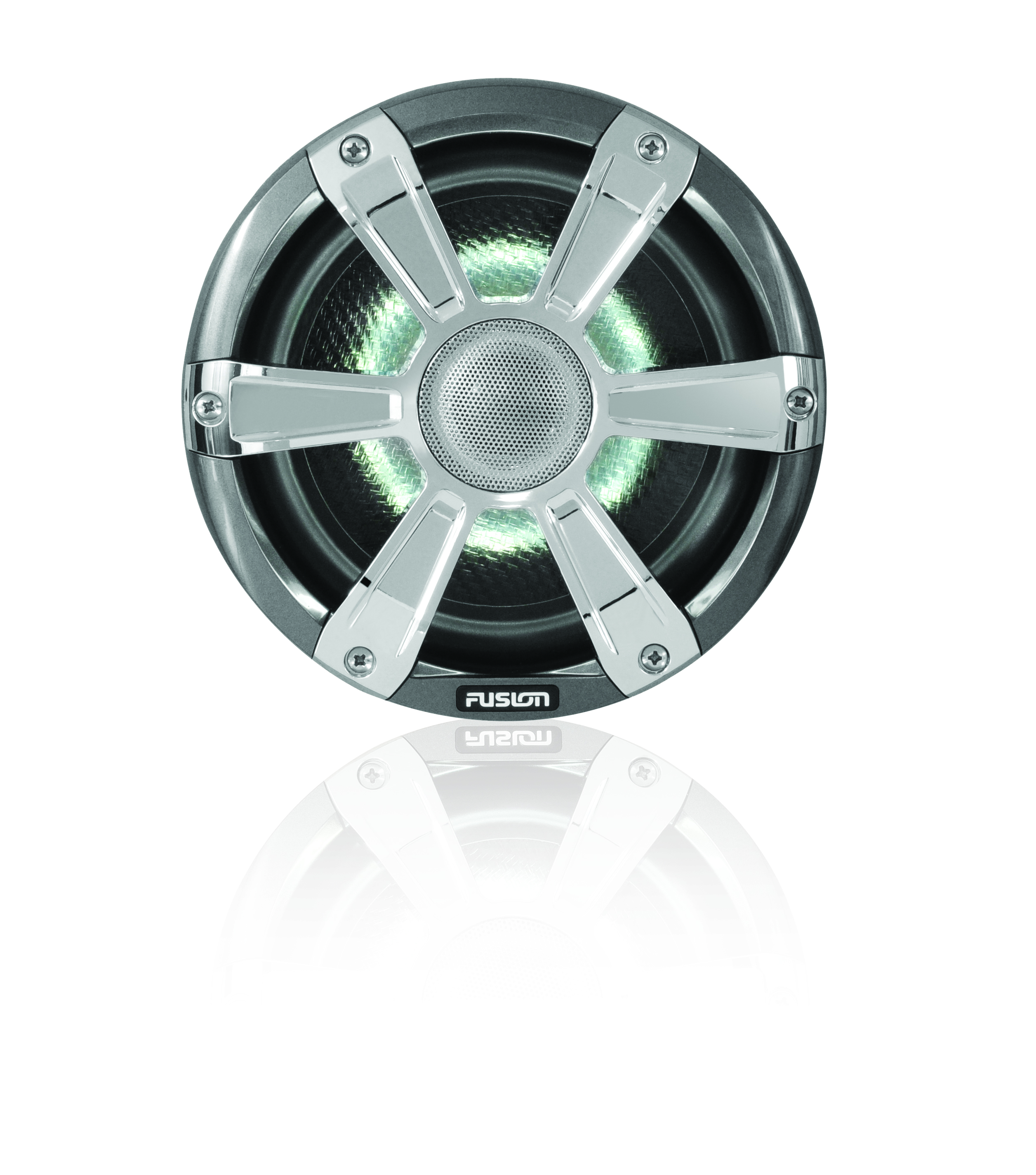 fusion sg fl77spc chrome speaker white led front