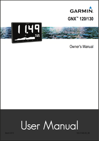 garmin gnx 120 130 marine instrument user manual