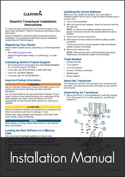 garmin gt20 tm transducer installation instructions