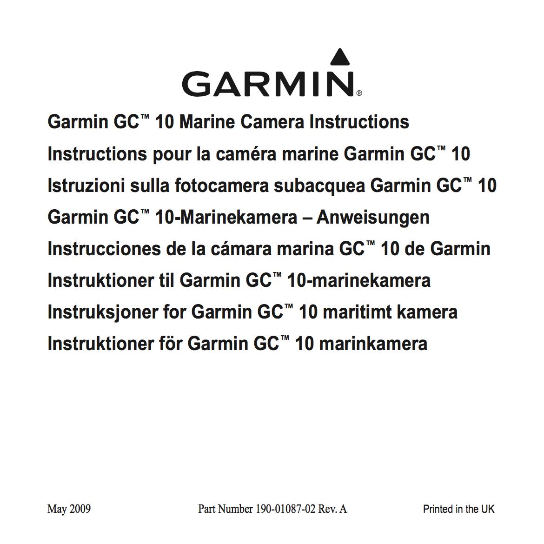 gc10 marine camera instructions