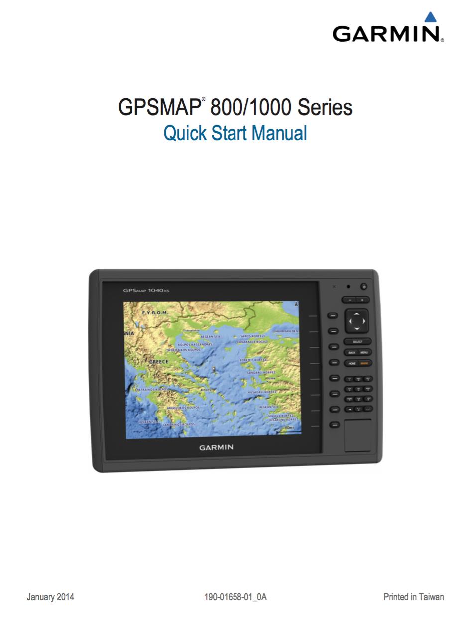 gpsmap 800 1000 quick start manual