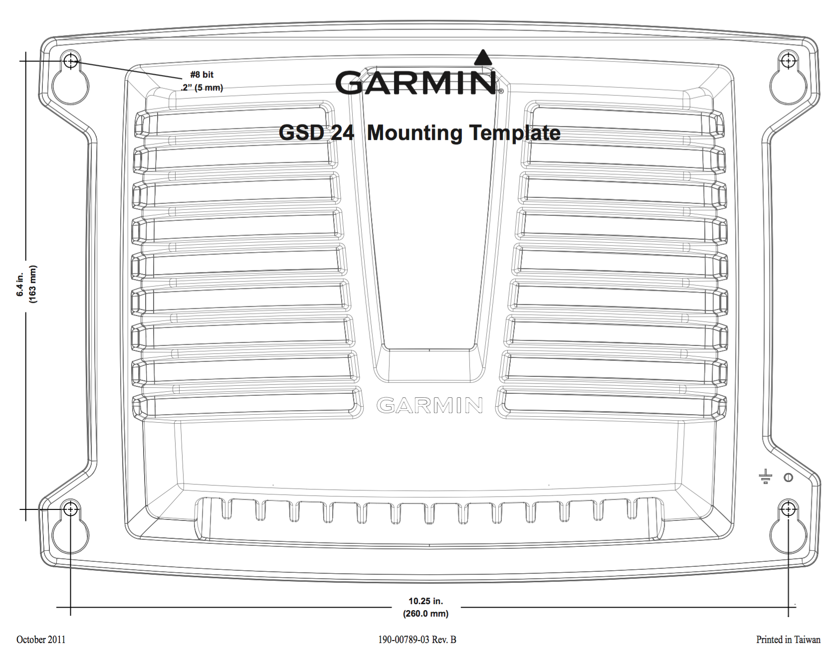 gsd24 sonar mounting template