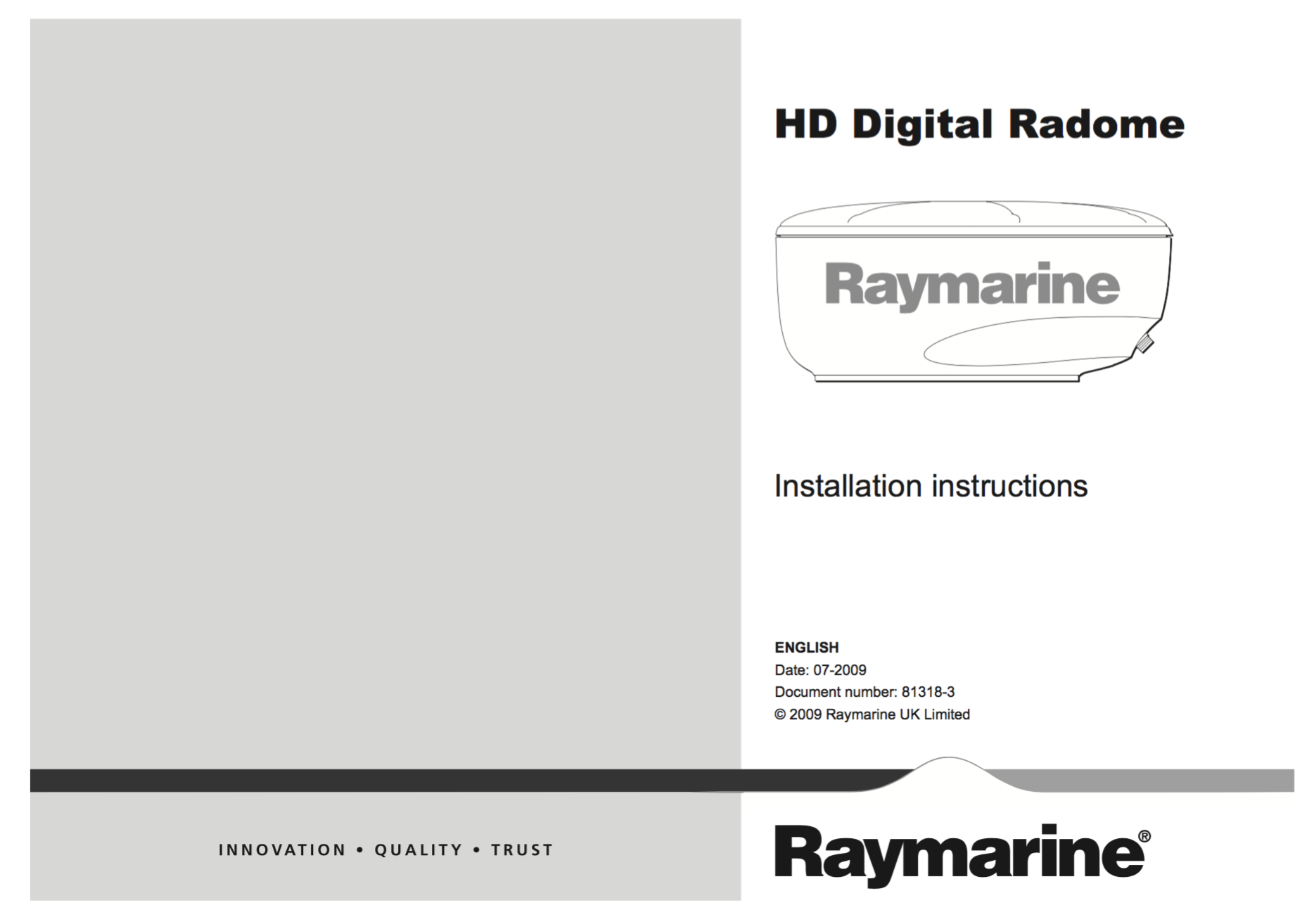 hd digital radome installation instructions