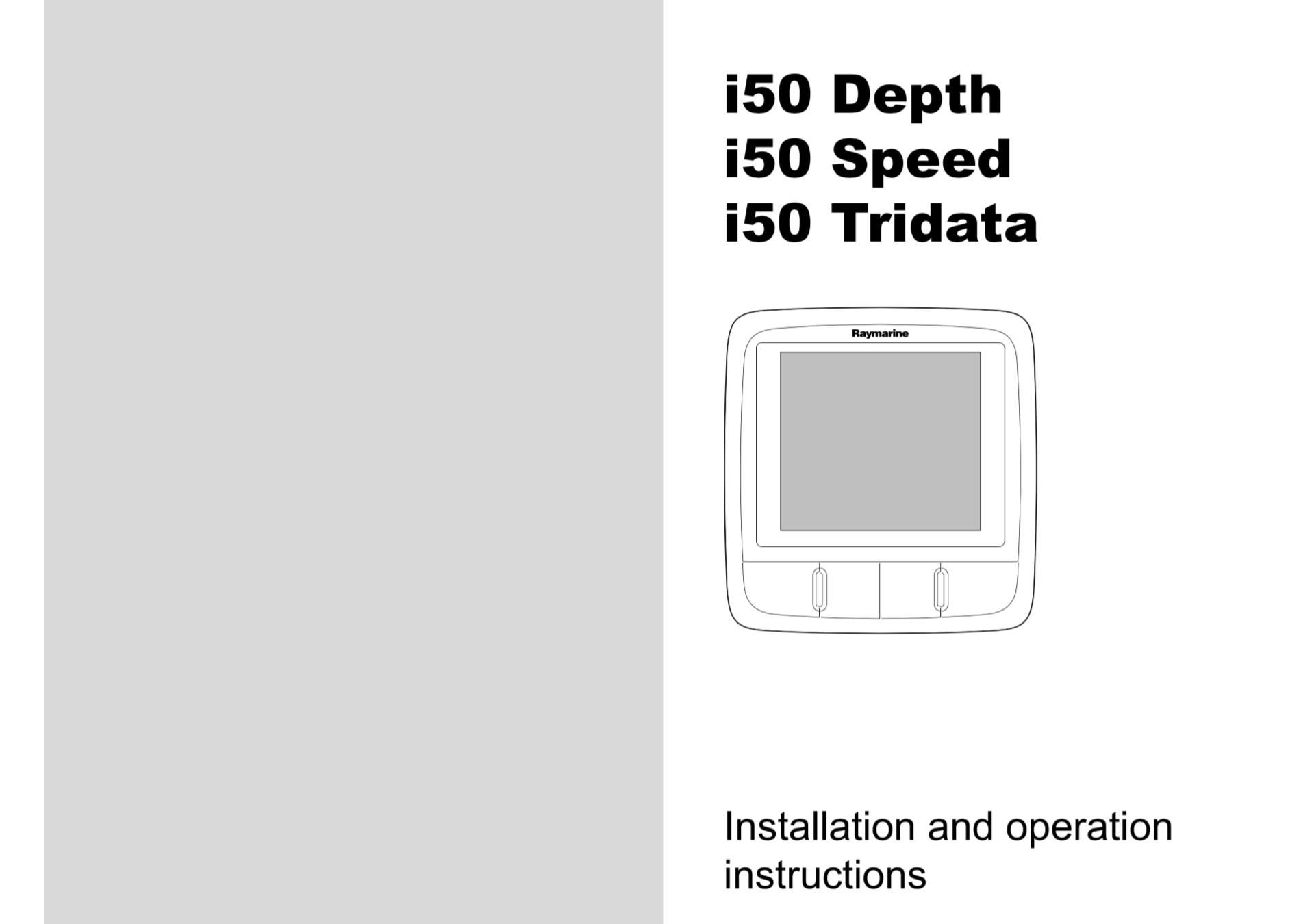 i50 instruments installation operation instructions