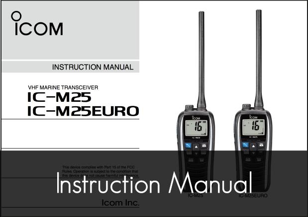 ic m25euro vhf instruction manual