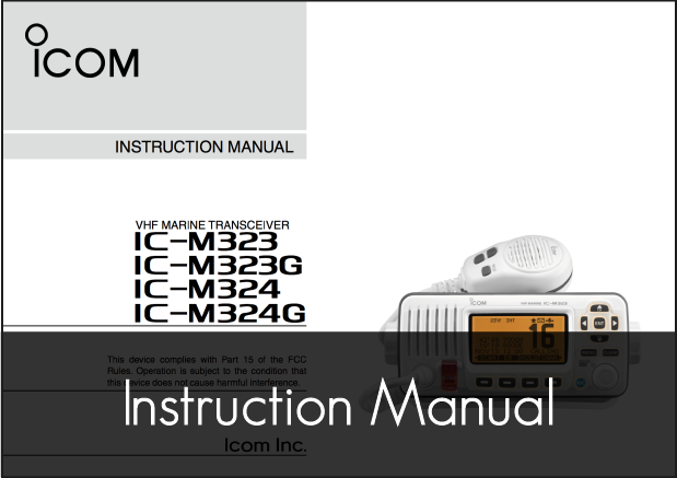 ic m323g m324g vhf instruction manual