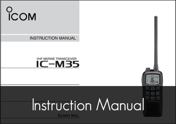 ic m35 vhf instruction manual