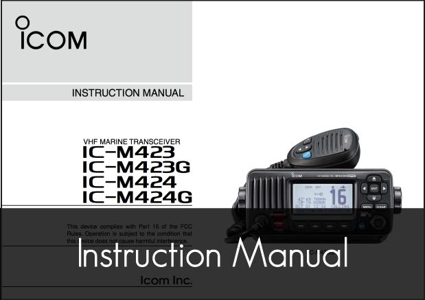 ic m423g m424g vhf instruction manual