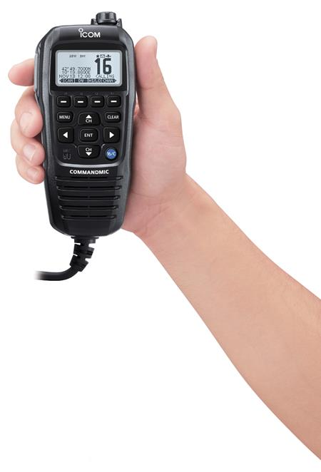 icom hm 195 in hand