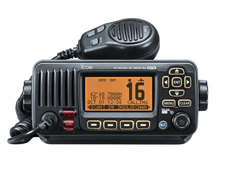 icom ic m323g black front view