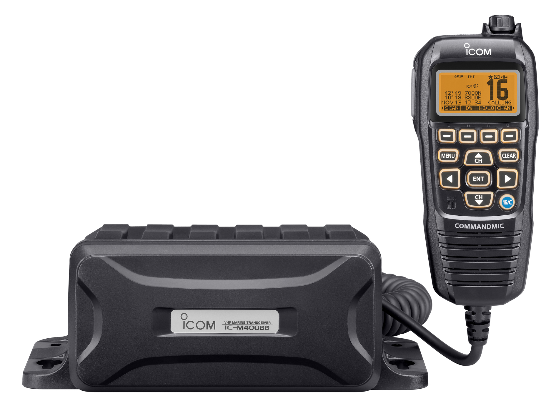 icom ic m400bb fixed vhf black