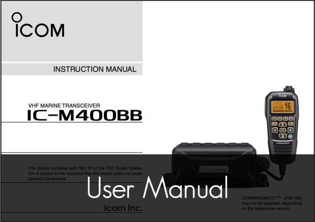 icom ic m400bb vhf fixed radio manual