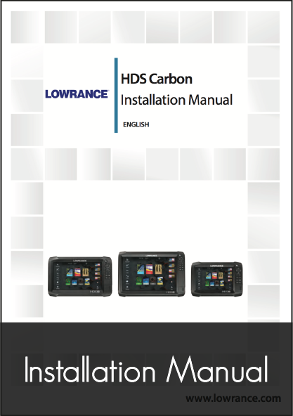 lowrance hds carbon installation instructions